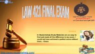 LAW 421 Final Exam Answers Free Pdf Download through Studentehelp