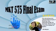 MKT 575 Final Exam Pdf Download at Uop E Tutors
