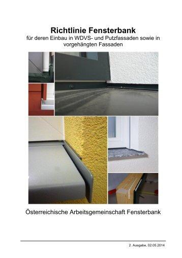 Richtlinie Einbau Fensterbänke 2014