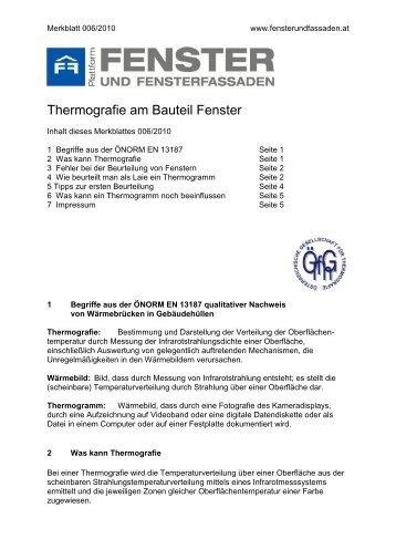 Merkblatt - Thermografie (Stand 2011)