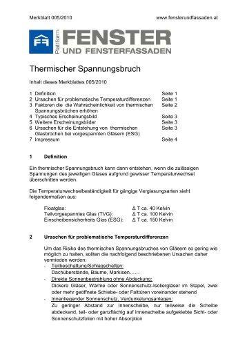 Merkblatt - Thermischer Spannungsbruch (Stand 2012)