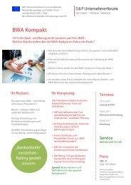 S&P - Seminare - Inhouse Training - BWA Kompakt - S&P Unternehmerforum