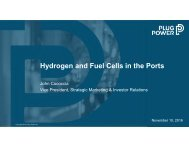 Hydrogen and Fuel Cells in the Ports