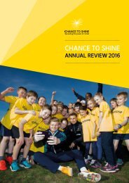 Chance to Shine Annual Review 2016