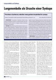 05 Lungenembolie als Ursache einer Synkope