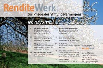 Nr. 04/2010 RenditeWerk