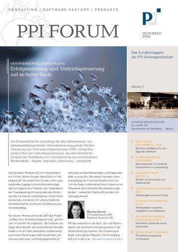 ppi forum 3/2009 - PPI AG