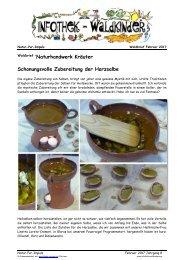 Infothek Waldkinder - Naturhandwerk Kräuter - Schonungsvolle Zubereitung der Harzsalbe