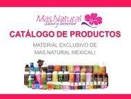 Mas Natural Mexicali Catálogo de Productos