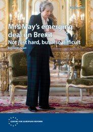 Mrs May's emerging deal on Brexit