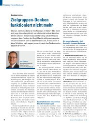 Bankmarketing: Zielgruppen-Denken funktioniert nicht mehr - PPI AG