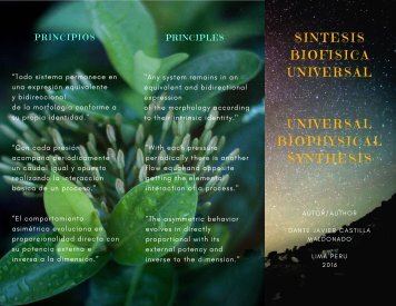 Universal Biophysical Synthesis for Natural Theology