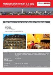 Hotelempfehlungen Leipzig - Reinraum Akademie