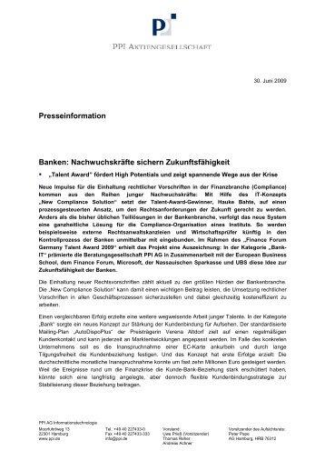 Nachwuchskräfte sichern Zukunftsfähigkeit - PPI AG