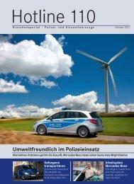 Umweltfreundlich im Polizeieinsatz - Mercedes-Benz Deutschland