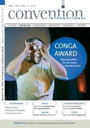 CONGA AWARD - Convention-International