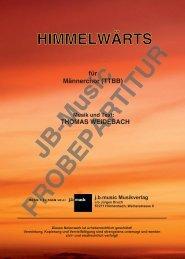 Himmelwärts (für Männerchor TTBB)