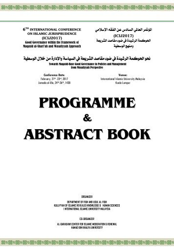 PROGRAMME ABSTRACT BOOK