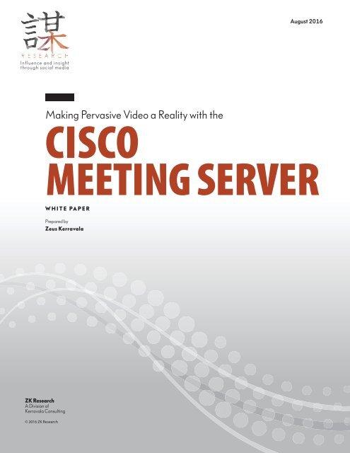 CISCO MEETING SERVER