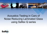 Acoustics testing in cars of noise reducing laminated glass - sun-tec.ch
