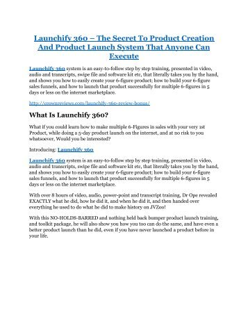 Launchify 360 Review and (MASSIVE) $23,800 BONUSES