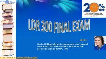 LDR 300 Final Exam With Week 5 Pdf Download via Studentehelp