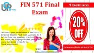 FIN 571 Final Exam 57 Questions Answers (PDF Download For Learning)