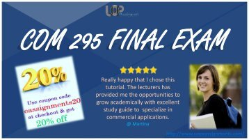 COM 295 Final Exam 2016 University of Phoenix Download Pdf At UOP E Assignments