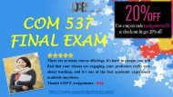 COM 537 Final Exam Questions Answers - Pdf Download By UOP E Assignments