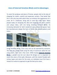 Uses of External Venetian Blinds and its Advantages