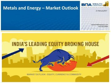 Metals and Energy – Market Outlook