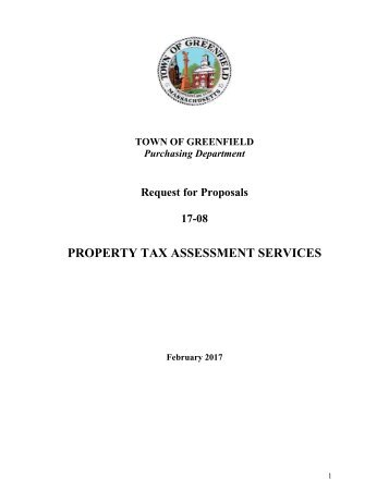 PROPERTY TAX ASSESSMENT SERVICES
