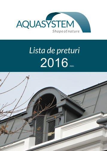 Lista pret AQUA 2016 - rev nov 2016