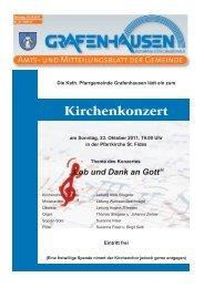 Lob und Dank an Gott - Gemeinde Grafenhausen