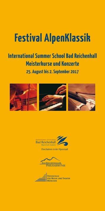 Festival AlpenKlassik Bad Reichenhall mit International Summer School