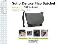 Promotional Bags & Backpacks - Chameleon Print Group - Australia