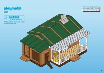 Playmobil 6410 Maison des fermiers du Far-West - Maison des fermiers du Far-West