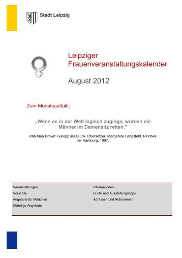 Kalender 2012.08 - Stadt Leipzig