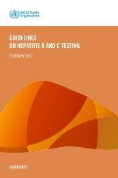 GUIDELINES ON HEPATITIS B AND C TESTING