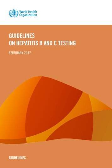 GUIDELINES ON HEPATITIS B AND C TESTING
