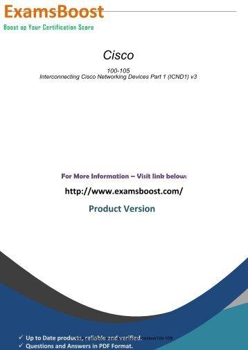 100-105 Latest Certification