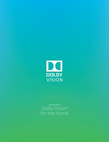 Dolby Vision for the Home