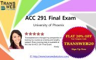 ACC 291 FInal Exam Complete Questions with Answers