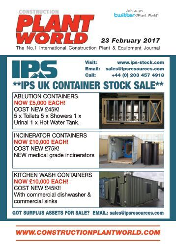 Construction Plant World 23rd February 2017