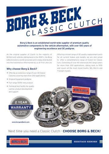 Borg & Beck Classic Clutch