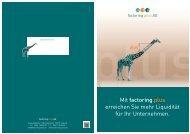 Unsere neue Broschüre - Blog | factoring plus AG