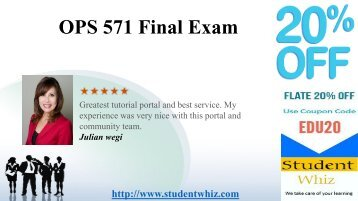 OPS 571 Final Exam 2016 Answers Free for Operation Management