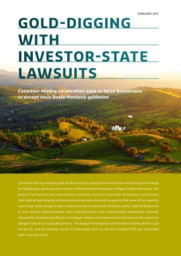 GOLD-DIGGING WITH INVESTOR-STATE LAWSUITS