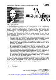 Januar bis März 2012 - Stadt Augsburg