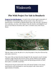 Plot With Project For Sale in Benahavis